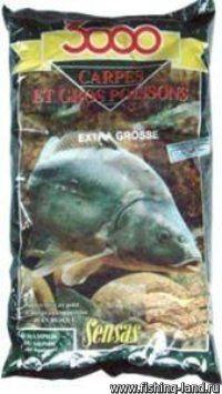 Прикормка Sensas 3000 Carp Extra Grosse 1 кг