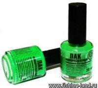 Краска-лак Три Кита зеленый флюо