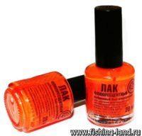 Краска-лак Три Кита оранжевый флюо