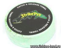 Полотенце с логотипом Strike Pro зеленое
