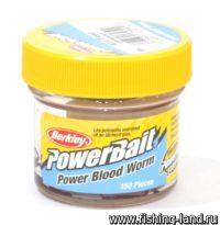 Приманка Berkley Blood Worms Micro Power blood red (упак. 150 шт)