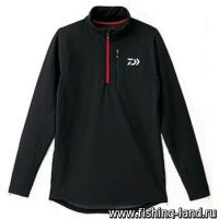 Куртка Daiwa Breathmagic Half Zip Jacket Black-Red XXXL