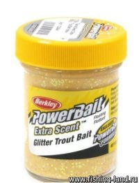 Паста Berkley Select glitter TroutBait Yellow 50гр