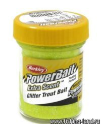 Паста Berkley Select glitter TroutBait Sunshine yellow 50гр