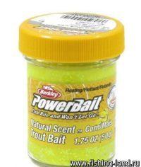 Паста Berkley Natural scent TroutBait Corn GL (кукуруза) 50гр