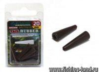 Конус для безопасной клипсы Tail Rubber L brown (упак. 10шт)
