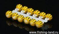 Микро-Бис Шар 3,1 мм желто-черный арбуз №2 (упак. 12шт)