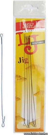 Поводок Струна Lucky John String Jig Heavy 24кг 30см (4шт)