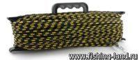Шнур якорный плетеный ПЭ с карабином 8мм 30м на мотовиле
