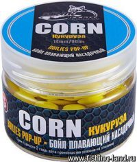 Бойлы Sonik Baits Pop-Up 14мм 90мл Corn Fluo (Кукуруза)