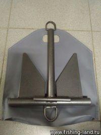 Якорь Яман непотеряйка 3,5 кг в ПВХ чехле