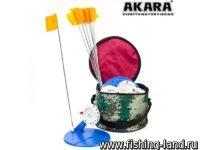 Жерлица зим. Akara 96BG005 d=20 см в сумке оснащеная (10 шт.)